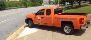 Mold and Water Damage Restoration Pickup Truck
