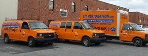 Mold and Water Damage Restoration Van And Truck