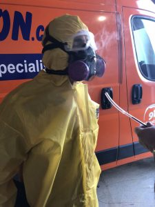 A Technician Suited Up For A Mold Removal Job