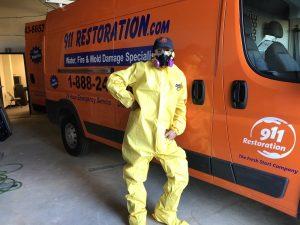 hazmat mold remediation water damage repair